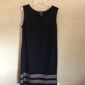 R&M Richards Sz 16 Navy Sleeveless Dress